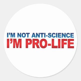 ないアンチ科学の妊娠中絶反対のステッカー ラウンドシール