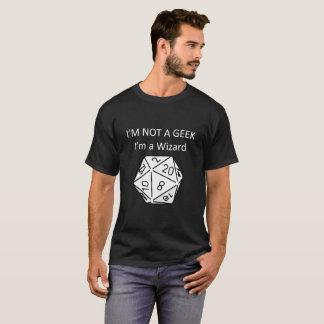 ないギーク私は魔法使い のD20卓上ゲーマーです Tシャツ