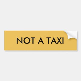ないタクシー バンパーステッカー