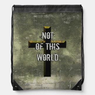 ない世界のキリスト教のイエス・キリストのこの十字の ナップサック