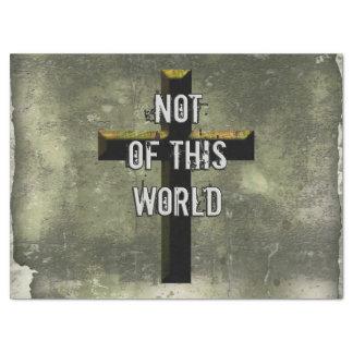 ない世界のキリスト教のイエス・キリストのこの十字の 薄葉紙