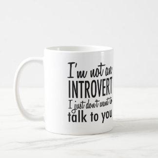 ない内向的なマグ コーヒーマグカップ