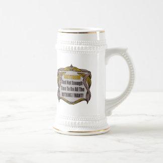 ない十分な退職の時間 ビールジョッキ