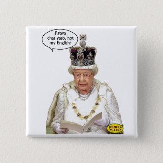 ない女王の英国 5.1CM 正方形バッジ