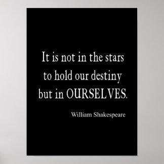 ない星の運命しかし私達自身シェークスピアの引用文 ポスター