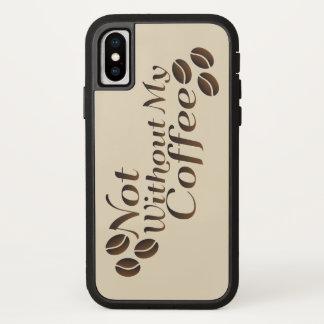 ない私のコーヒーなしで iPhone X ケース
