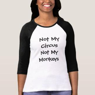ない私のサーカスない私の猿の黒 Tシャツ
