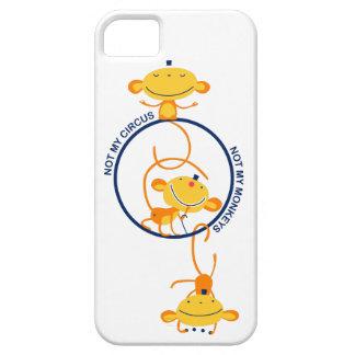 ない私のサーカス私の猿ではなく! iPhone SE/5/5s ケース