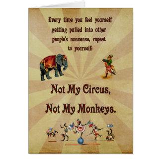 ない私の猿私のサーカスではなく カード