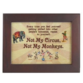 ない私の猿私のサーカスではなく ジュエリーボックス