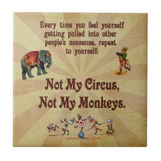 ない私の猿私のサーカスではなく タイル