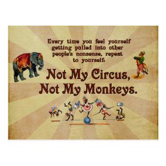 ない私の猿私のサーカスではなく ポストカード