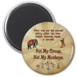 ない私の猿私のサーカスではなく マグネット