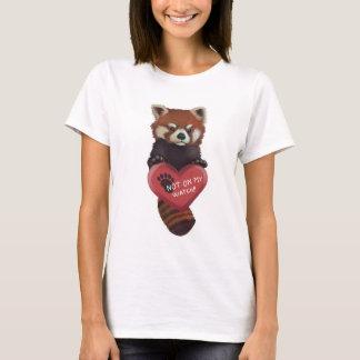 ない私の腕時計-ハートのレッサーパンダで Tシャツ
