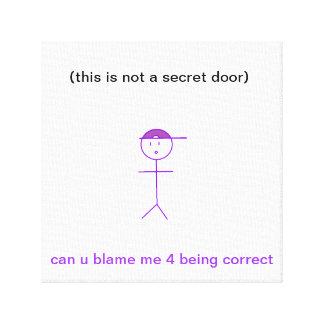 ない秘密のドア キャンバスプリント