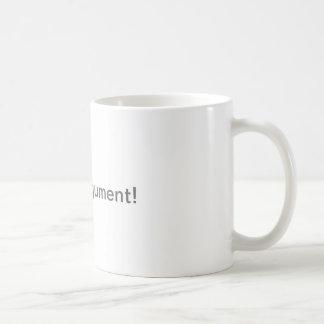 ない議論のマグ コーヒーマグカップ