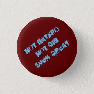 ないHeteroのシス形の100%年の素晴らしいボタン 3.2cm 丸型バッジ