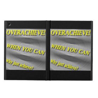 なぜちょうど達成して下さいか。 Overachieveできる時! 汚点 iPad Airケース