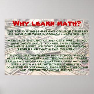 """""""なぜ学びなさい数学をか""""。 ポスター"""