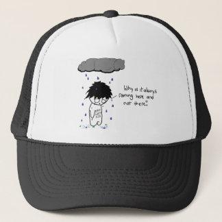 なぜ常にここに雨が降っていますか。 帽子