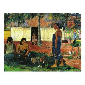 なぜ怒っていますか。 (Te無しAha Oe Ririか。) Gauguin著 ポストカード