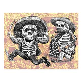 なたおよび酒宴が付いている骨組 ポストカード