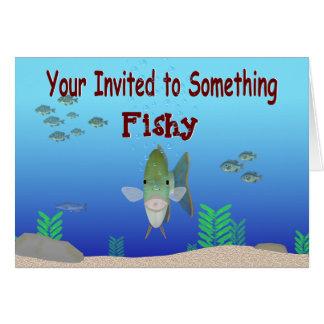 なま臭い招待状の挨拶状 カード