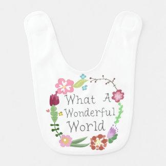 なんとすばらしい世界-花のリースか ベビースタイ