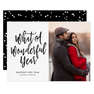 なんとすばらしい年の写真の新年か カード