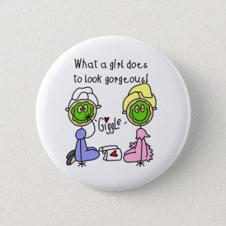 なんと女の子豪華に見るためにするか! ボタン 5.7CM 丸型バッジ