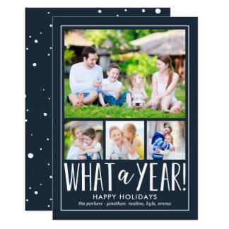 なんと年編集可能色の休日の写真カードか 12.7 X 17.8 インビテーションカード