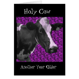 なんと牛ハッピーバースデーか カード