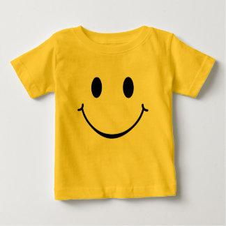 にこやかで幸せな顔 ベビーTシャツ