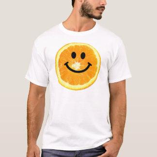 にこやかなオレンジ切れ Tシャツ