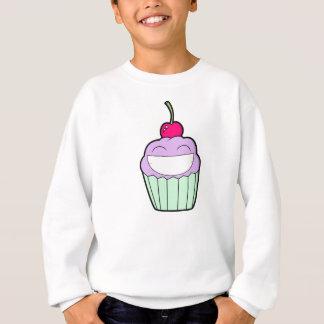 にこやかなカップケーキ スウェットシャツ