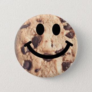 にこやかなチョコチップクッキー 5.7CM 丸型バッジ