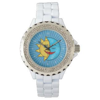 にこやかな日曜日のブルームーンの天のテーマ 腕時計