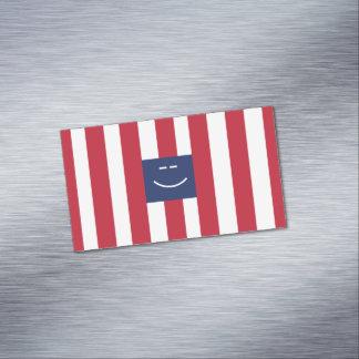 にこやかな正方形磁気名刺 マグネット名刺