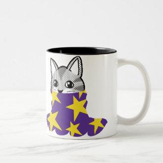 にこやかな猫: タートル・ネックの星 ツートーンマグカップ