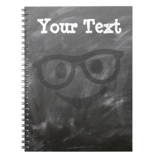 にこやかな黒板ガラス ノートブック