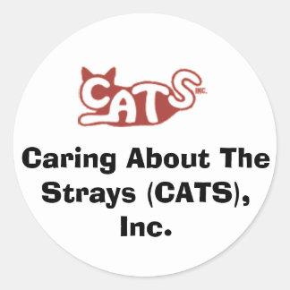 について気になりますStrays (CATS)、Inc.ステッカー ラウンドシール