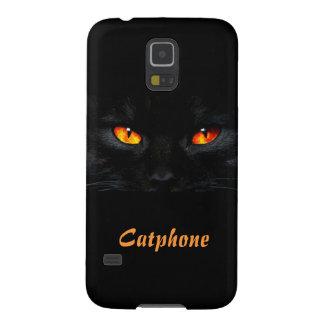 にやにや笑いのSamsungの銀河系S5の箱のない猫 Galaxy S5 ケース