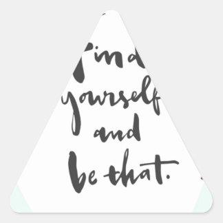 によってそれほしいと思い、である何が発見 三角形シール