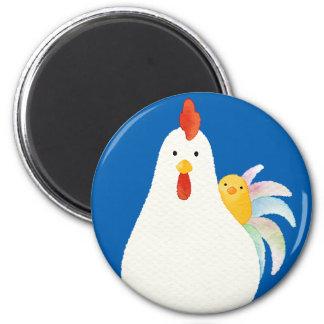 【にわとりとひよこ(水彩)】 A chicken and chicks (Watercolor) マグネット