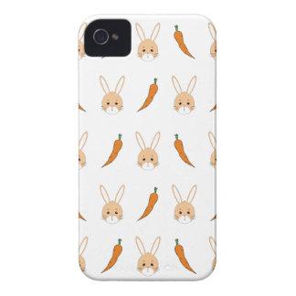 にんじんが付いているウサギの顔 Case-Mate iPhone 4 ケース