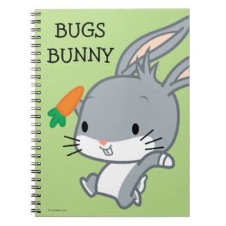 にんじんが付いているチビ(小さくかわいく書いた感じ)のバッグス・バニーの™ ノートブック