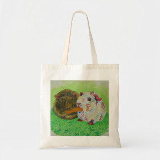 にんじんのバッグを共有しているモルモット トートバッグ