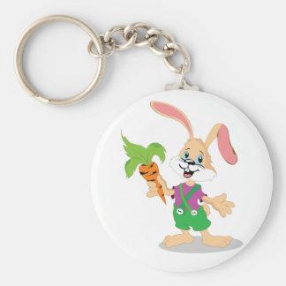 にんじんKeychainが付いているイースターのウサギ キーホルダー