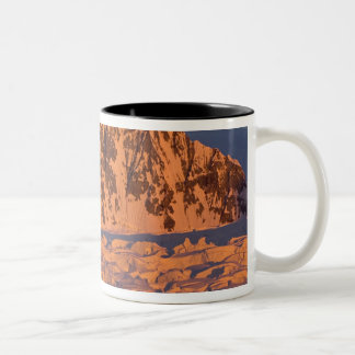 に沿う凍結する氷山の景色 ツートーンマグカップ