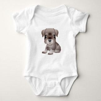 に演劇のロットワイラーの子犬の服装のTシャツが私ほしい ベビーボディスーツ